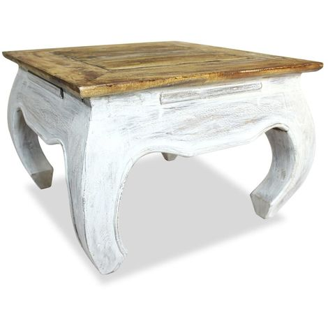 Hommoo Side Table Solid Reclaimed Wood 50x50x35 cm