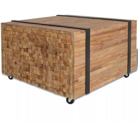 Hommoo Side Table Teak 60x60x38 cm