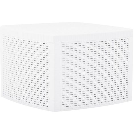 Hommoo Side Table White 54x54x36.5 cm Plastic