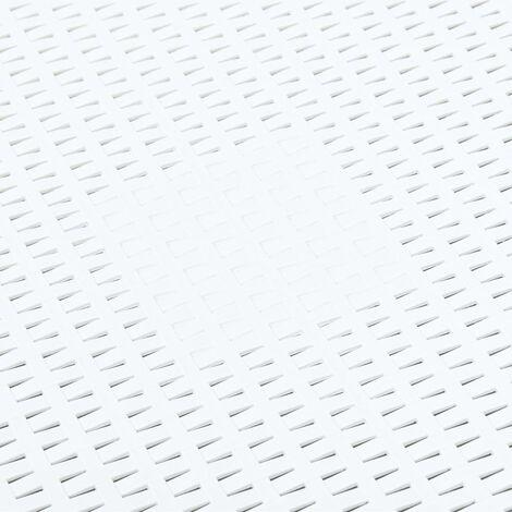 Hommoo Side Table White 54x54x36.5 cm Plastic QAH46664