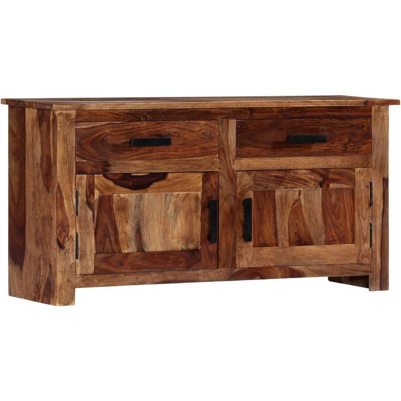 Sideboard 100 x 30 x 50 cm Massivholz Sheesham - Hommoo