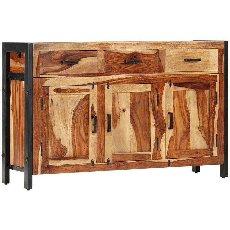 Sideboard 110 x 35 x 75 cm Massivholz Sheesham VD13331 - Hommoo