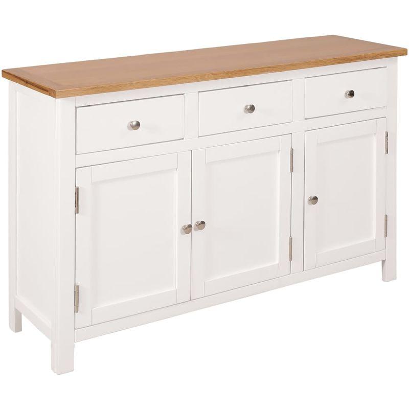 Hommoo Sideboard 110x33,5x70 cm Massivholz Eiche VD13036