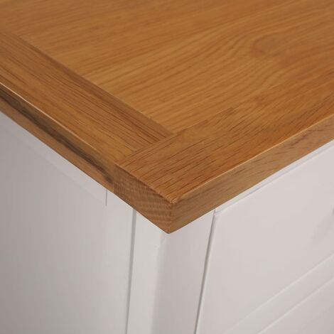 Hommoo Sideboard 110x33.5x70 cm Solid Oak Wood QAH13036