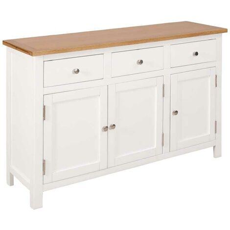 Hommoo Sideboard 110x33.5x70 cm Solid Oak Wood VD13036