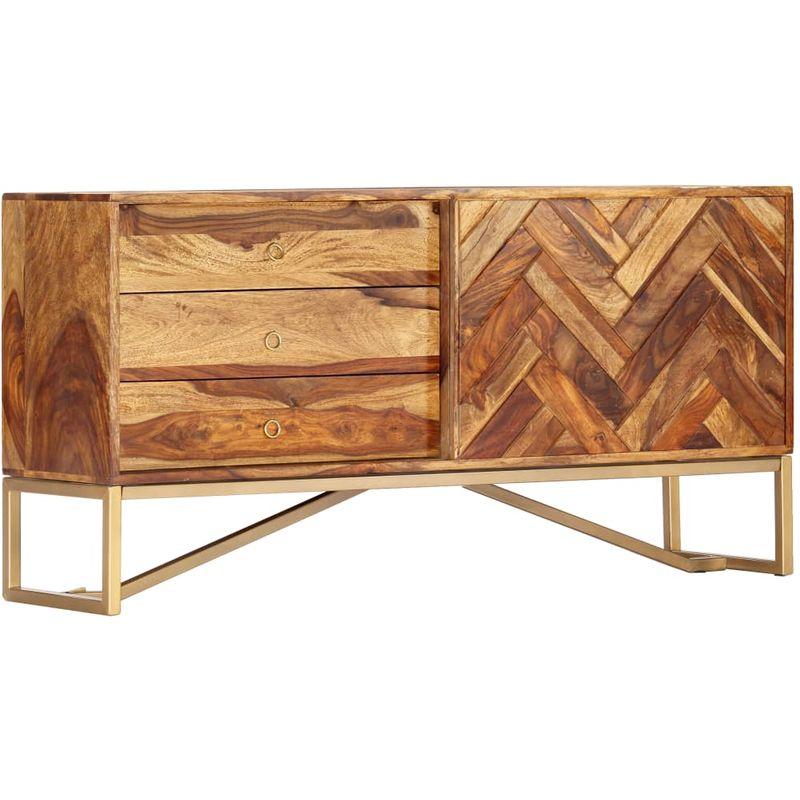 Sideboard 118 x 30 x 60 cm Massives Sheeshamholz VD13845 - Hommoo
