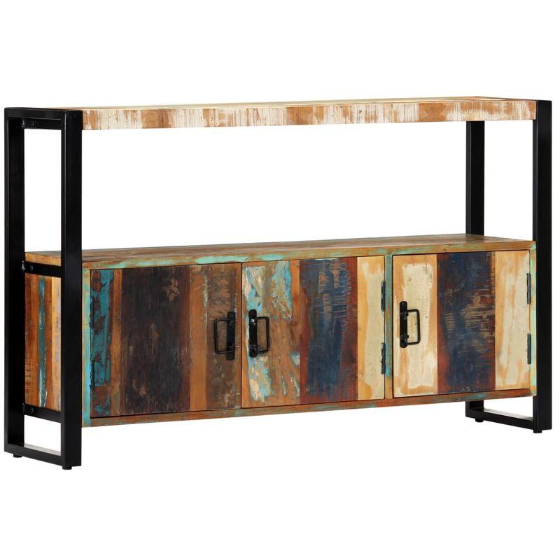 Sideboard 120 x 30 x 75 cm Recyceltes Massivholz VD13771 - Hommoo