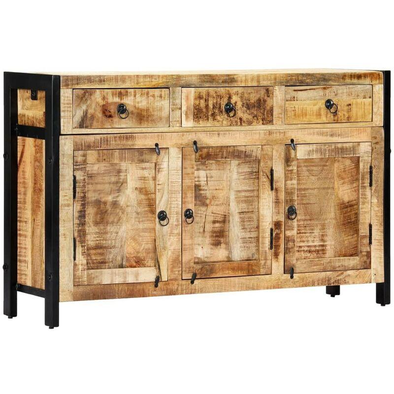 Hommoo Sideboard 120 x 35 x 76 cm Massivholz Mango VD13329