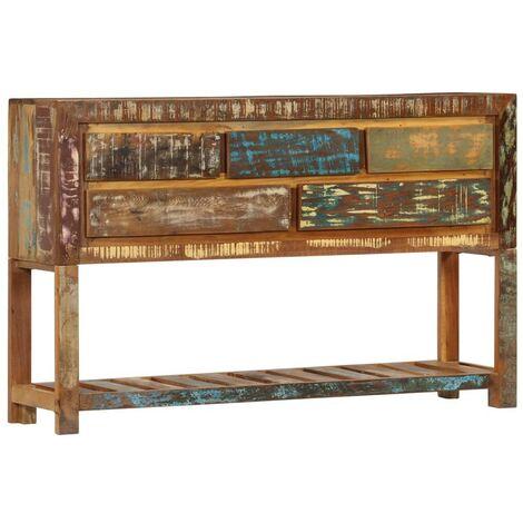Hommoo Sideboard 120x30x75 cm Solid Reclaimed Wood