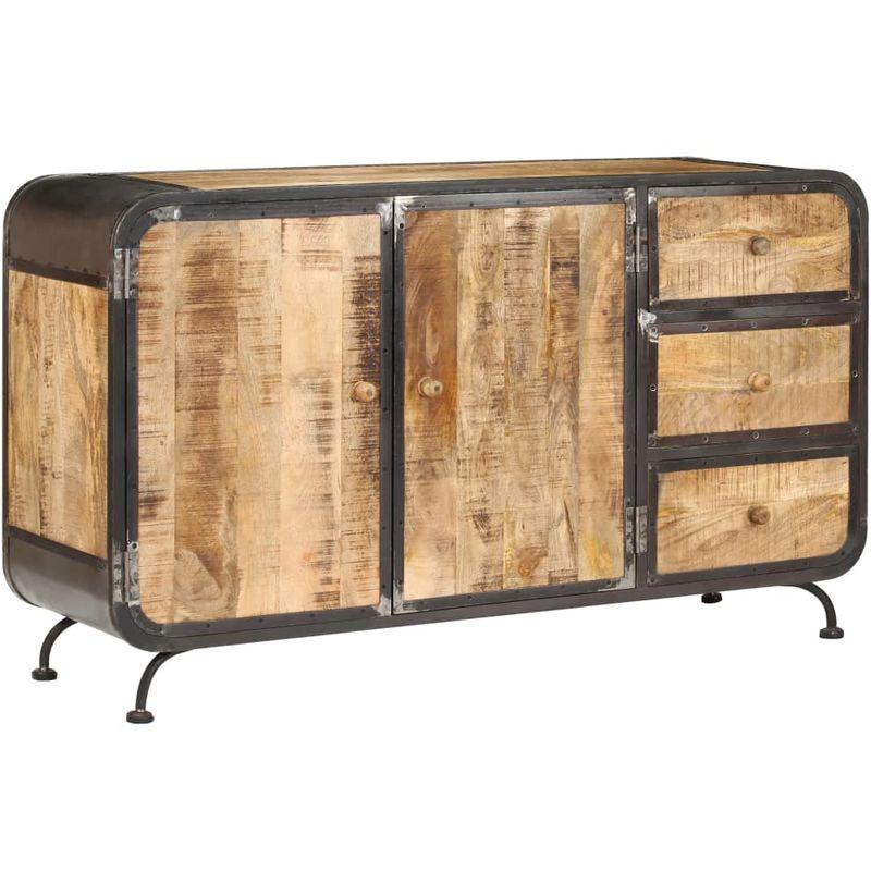 Sideboard 140 x 40 x 80 cm Mango-Massivholz VD13655 - Hommoo