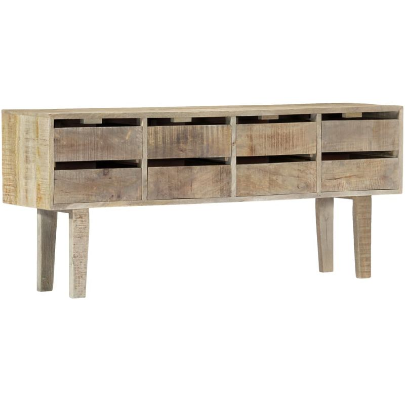 Hommoo Sideboard 140x30x60 cm Massivholz Mango VD13763