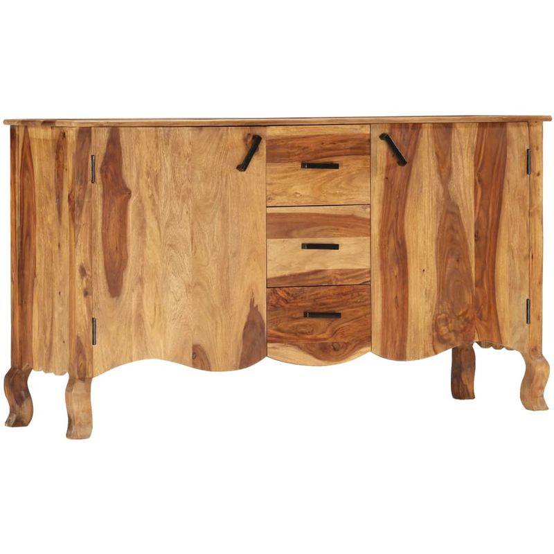 Hommoo Sideboard 145x40x80 cm Massivholz VD47772