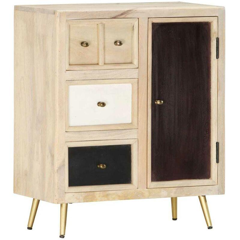 Hommoo Sideboard 60x30x75 cm Massivholz Mango VD36832