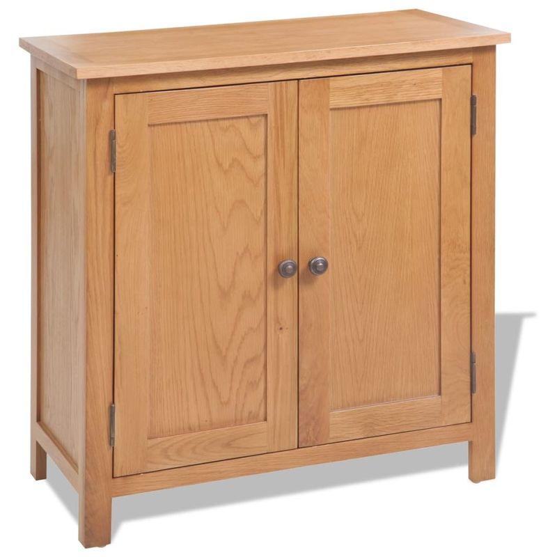 Sideboard 70x35x75 cm Massivholz Eiche VD10173 - Hommoo