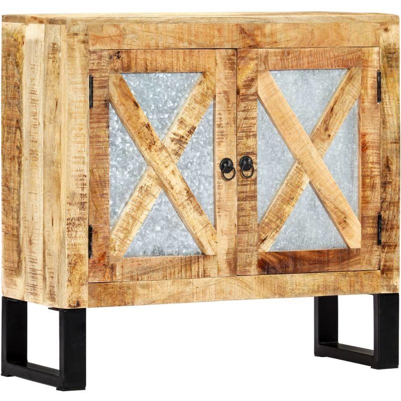 Hommoo Sideboard 80 x 30 x 76 cm Massivholz Mango VD23841