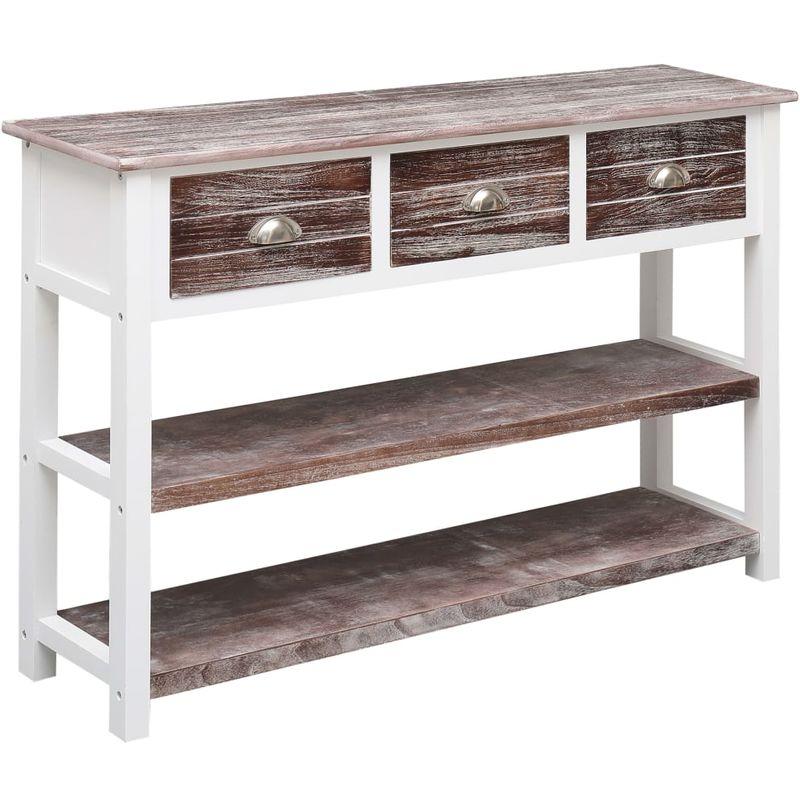 Hommoo Sideboard Antik Braun 115 x 30 x 76 cm Holz VD24705