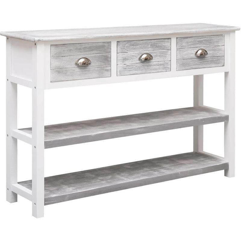 Sideboard Antik-Grau 115 x 30 x 76 cm Holz VD24704 - Hommoo