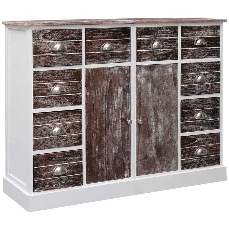 Sideboard mit 10 Schubladen Braun 113 x 30 x 79 cm Holz VD24715 - Hommoo
