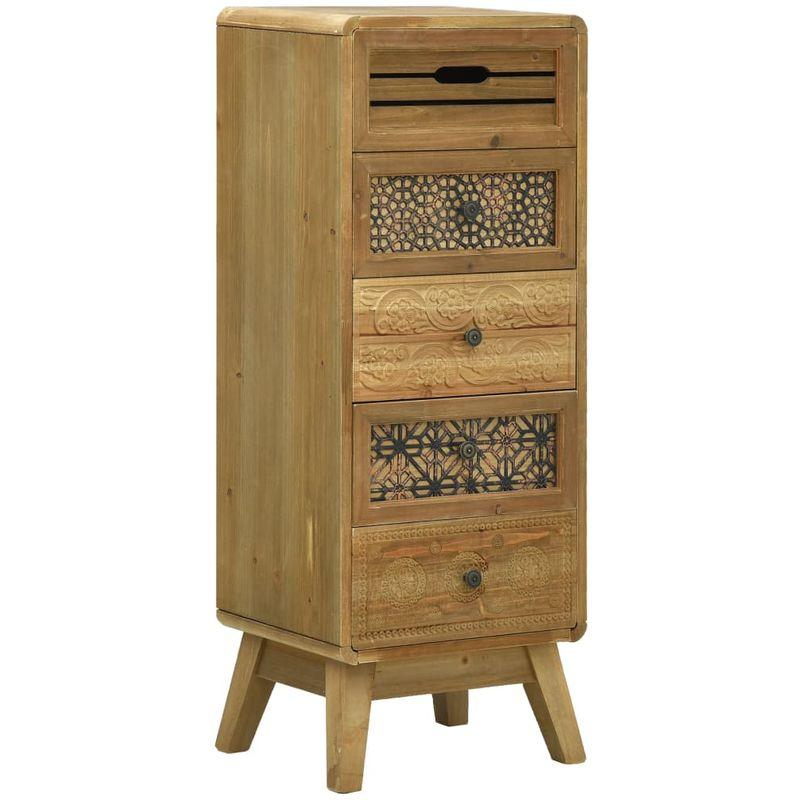Sideboard mit 5 Schubladen Braun 37x30x97,5 cm Holz VD25928 - Hommoo