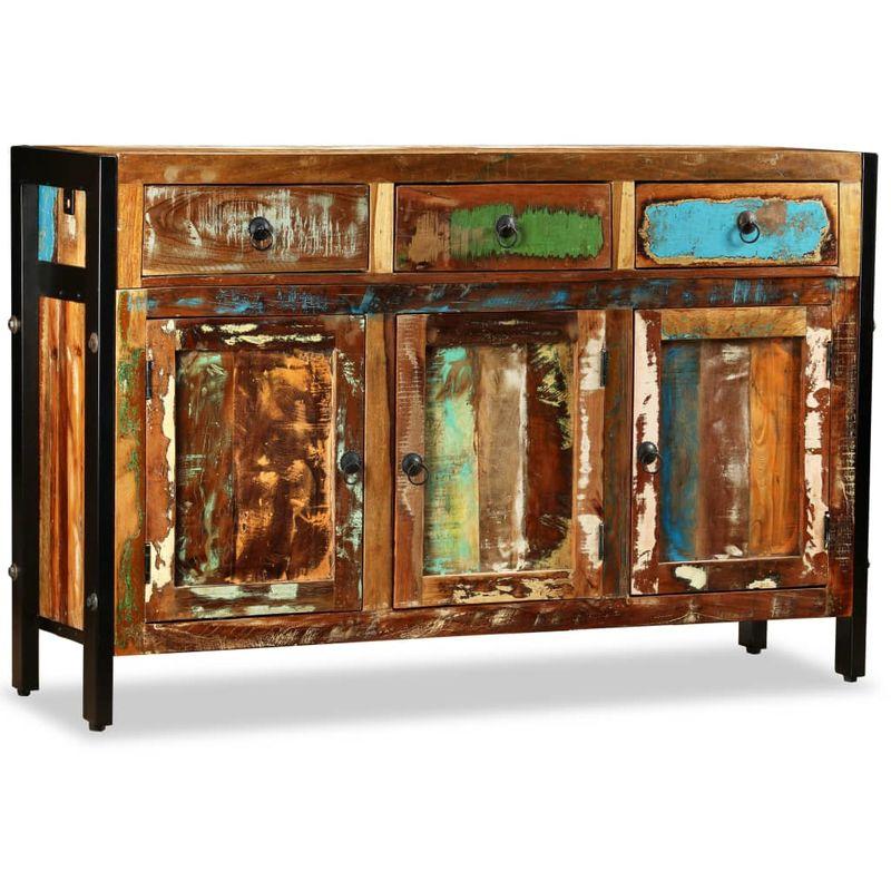 Sideboard Recyceltes Massivholz 120 x 35 x 76 cm VD10221 - Hommoo
