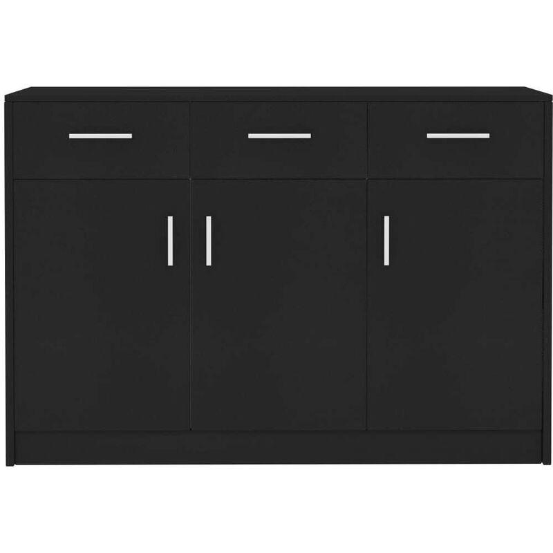Sideboard Schwarz 110 x 34 x 75 cm Spanplatte VD31731 - Hommoo