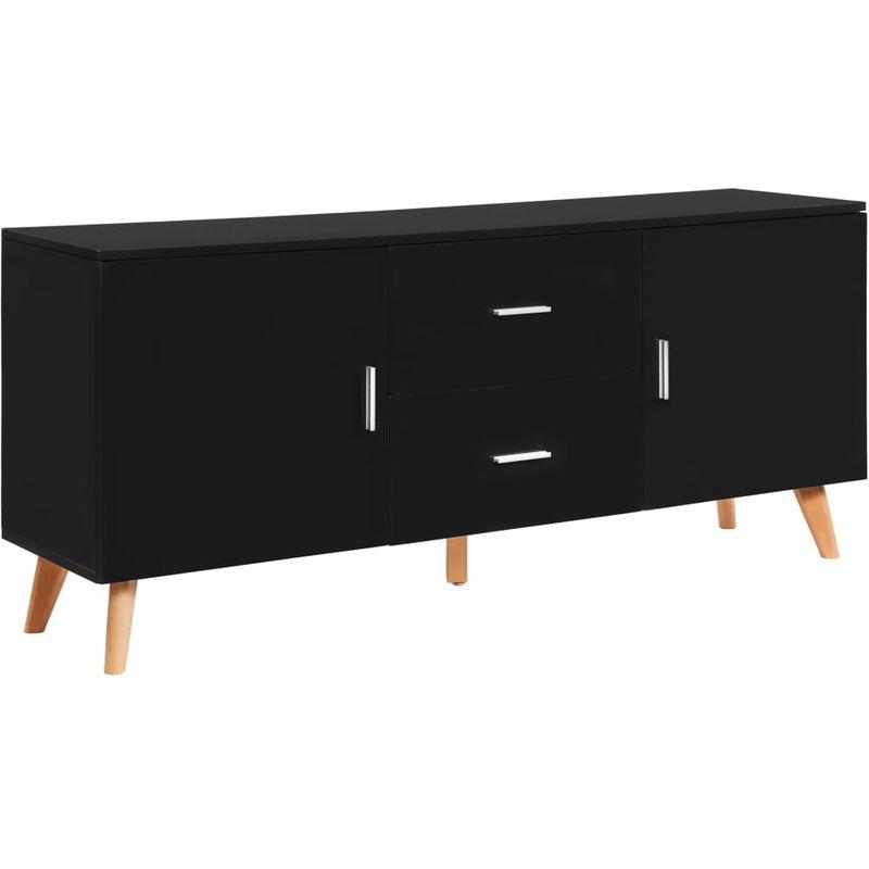 Hommoo Sideboard Schwarz 160x40x70 cm MDF VD13196