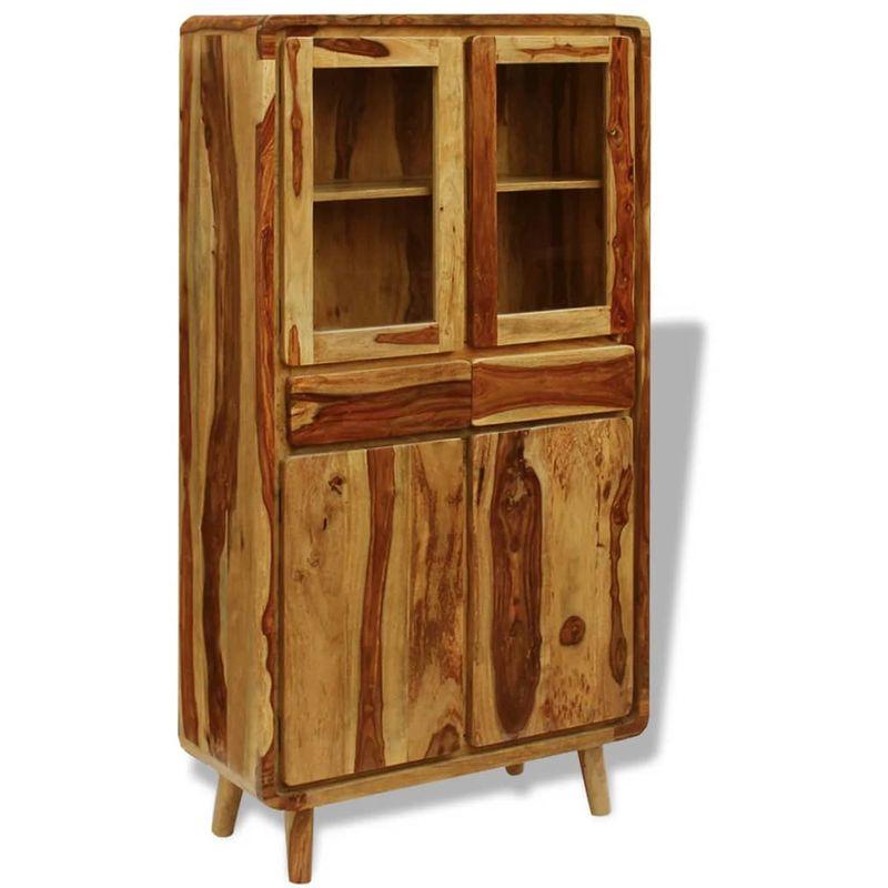 Hommoo Sideboard Sheesham Holz 90x40x175 cm VD09755
