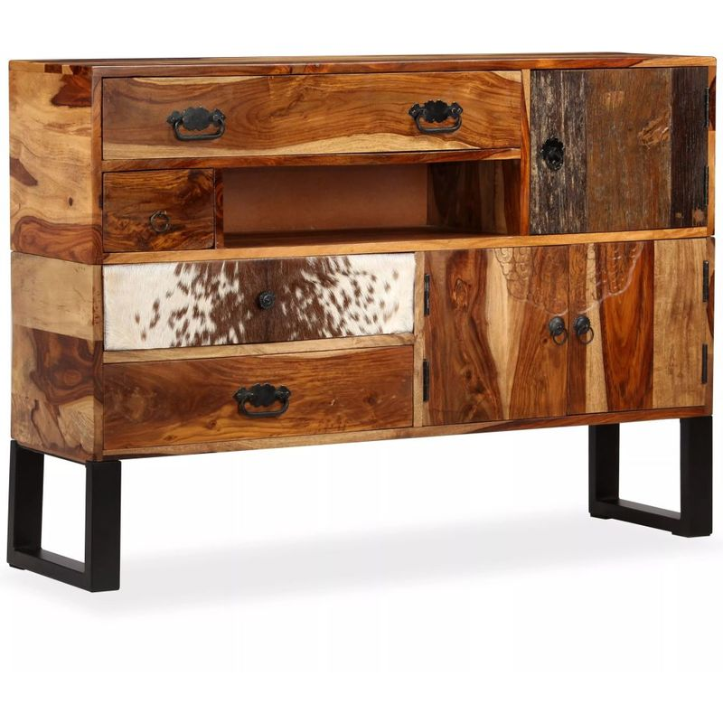 Sideboard Sheesham-Holz Massiv 115 x 30 x 80 cm VD10939 - Hommoo