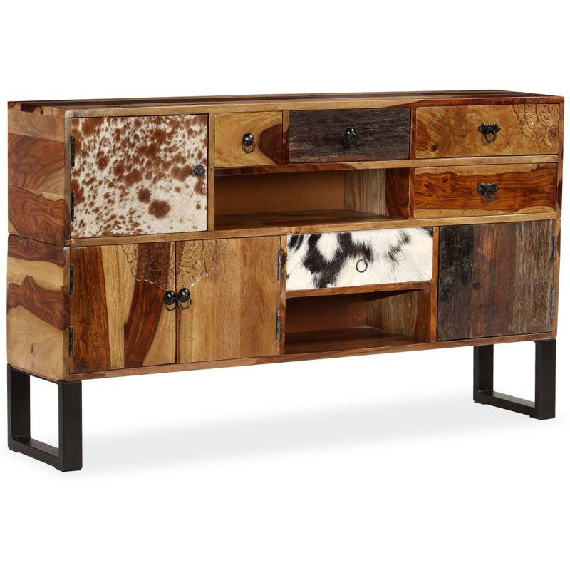 Sideboard Sheesham-Holz Massiv 140 x 30 x 80 cm VD10940 - Hommoo
