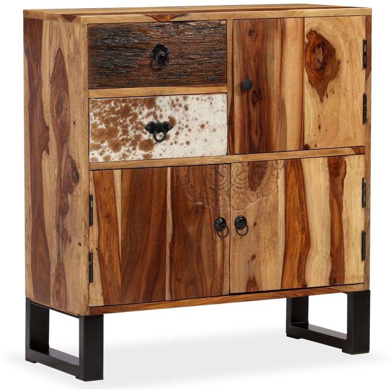 Hommoo Sideboard Sheesham-Holz Massiv 70 x 30 x 80 cm VD10944