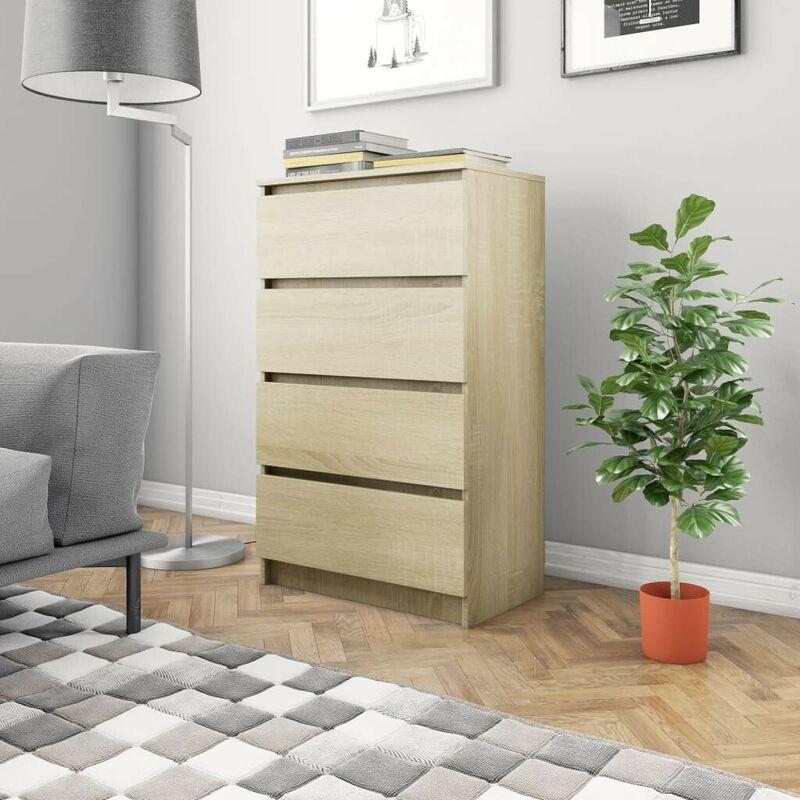Sideboard Sonoma-Eiche 70x40x97 cm Spanplatte VD31566 - Hommoo