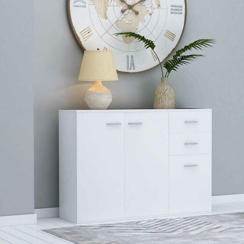 Sideboard Weiß 105 x 30 x 75 cm Spanplatte VD47122 - Hommoo