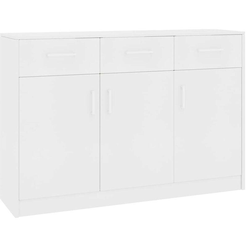 Sideboard Weiß 110 x 34 x 75 cm Spanplatte VD31730 - Hommoo