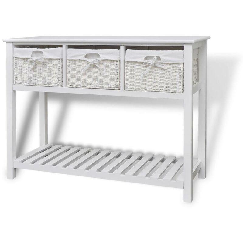Sideboard Weiß VD09289 - Hommoo