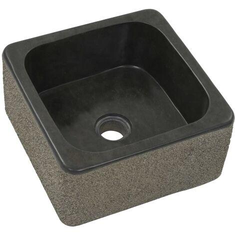 Hommoo Sink 30x30x15 cm Riverstone Black QAH04818