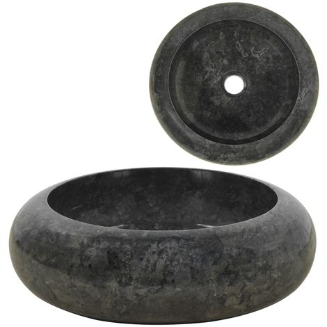 Hommoo Sink 40x12 cm Marble Black VD04807