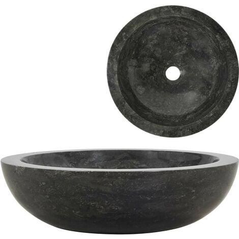 Hommoo Sink 40x12 cm Marble Black VD04813