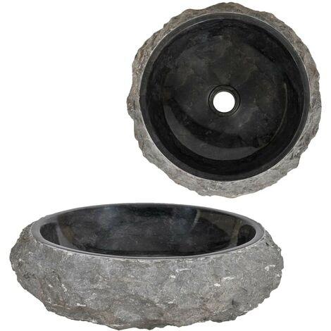 Hommoo Sink 40x12 cm Marble Black VD04815