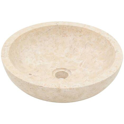 Hommoo Sink 40x12 cm Marble Cream QAH04814
