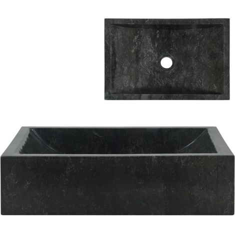 Hommoo Sink 45x30x12 cm Marble Black
