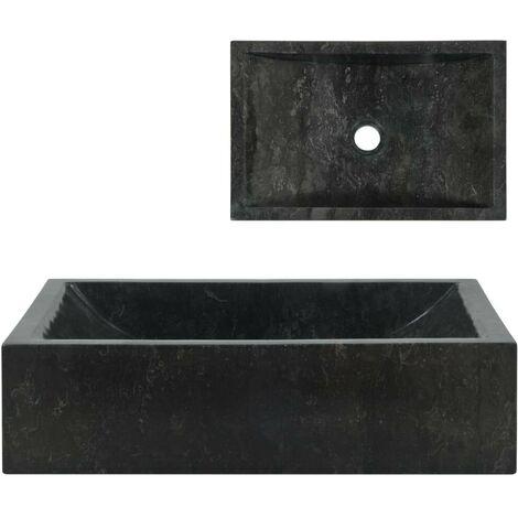Hommoo Sink 45x30x12 cm Marble Black VD04811