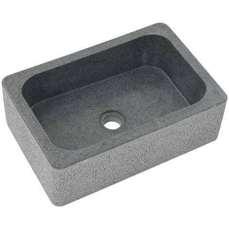 Hommoo Sink 45x30x15 cm Riverstone Black QAH04819
