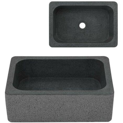 Hommoo Sink 45x30x15 cm Riverstone Black VD04819