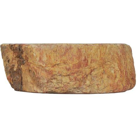 Hommoo Sink 45x35x15 cm Fossil Stone Cream QAH04817