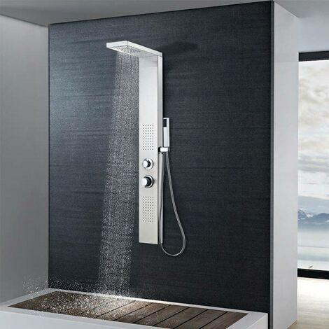 Hommoo Sistema de panel de ducha acero inoxidable cuadrado