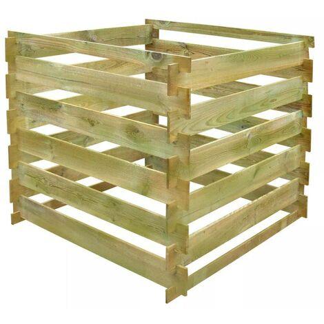 Hommoo Slatted Compost Bin 0.54 m3 Square FSC Wood