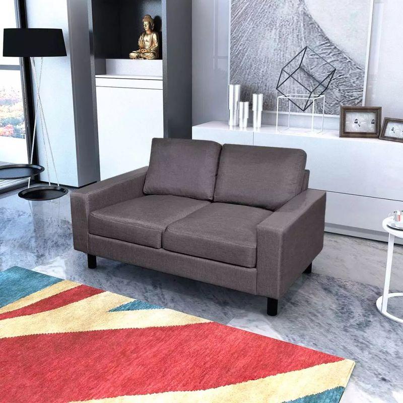 Sofa 2-Sitzer Stoff Dunkelgrau VD08860 - Hommoo