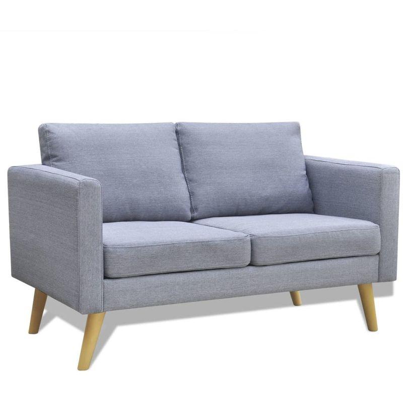 Sofa 2-Sitzer Stoff Hellgrau VD09143 - Hommoo