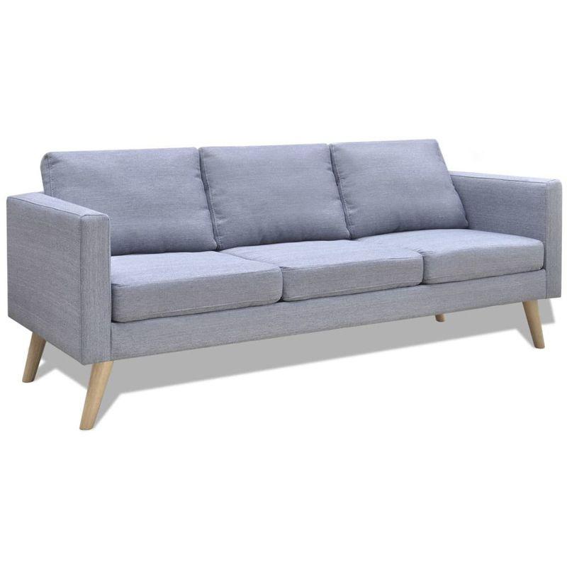 Sofa 3-Sitzer Stoff Hellgrau VD09144 - Hommoo
