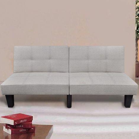 Hommoo Sofá cama ajustable beige